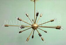 18 Lights Mid century Sputnik Chandelier Light Fixture Antique Brass Finish