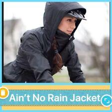 NWT Rare Lululemon Aint No Rain Waterproof Jacket Chest Vents Reflective BLK, 2