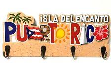 "PUERTO RICO Isla Del Encanto PVC WALL KEYS CHAIN HOOK HOLDER SOUVENIRS 11X4.5"""