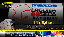 Pegatina Laguna Seca MAZDA sticker decal aufkleber autocollant 3M 50 S vinyl