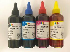 Bulk refill ink bottle for HP Canon Brother Lexmark inkjet printer, 4 colors