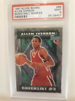 1997 Score Board Allen Iverson Basketball Rookies PSA 9 Mint RC Philadelphia 76