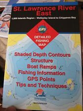 FHS Fishing & Boating Map Chart GPS Points Guide St Lawrence River East S279