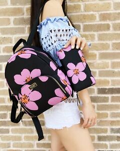 Kate Spade Dawn Grand Flora Bradley Backpack + Large Floral Neda Wallet