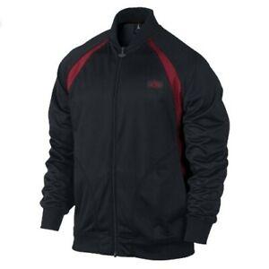 Air Jordan Retro 1 Men's XL Track Muscle Jacket Black/Gym Red - New NWT