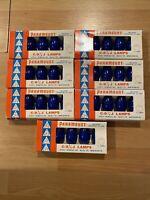 7 Boxes Of Vintage Paramount Blue C-7 1/4 J Lamps Christmas Light Bulbs