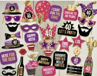 """""""40th Birthday"""" Party Photo Booth Props"""