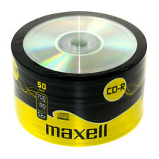 MAXELL CD-R Cased Recordable Blank CDs PC Laptop Computer 50 Pack
