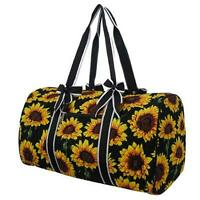 Sunflower Quilted Duffle Bag NGIL 20' Carry on/Gym/Overnight/Duffle Free Ship