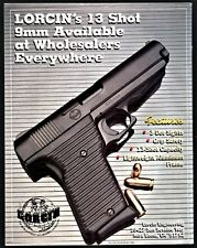 1995 LORCIN 9mm 13-shot Pistol PRINT AD