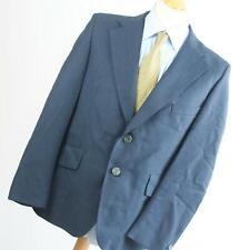 Burton Mens Blue Striped Wool Blend Suit Jacket 40 Chest (Regular)