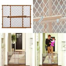 Pet Dog Gate Child Baby Safety Puppy Cat Door Expandable Barrier Walk WOOD Fence