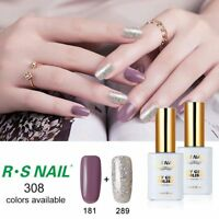 2PCS RS 181_289 Gelish Gel Nail Polish UV LED Sequined Soak Off Gel Colour 15ml