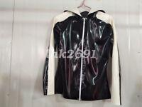 100% Latex Rubber Hooded Casual Sports Jacket Handsame Leisure 0.4mm XXS-XXL