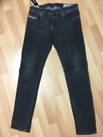 WORN MENS Diesel TROXER Stretch Denim R9F66 BLACK Slim W32 L32 H6 RRP£150