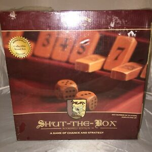 Shut The Box Book Shelf Edition Game Front Porch Classics  Wooden Box New Sealed