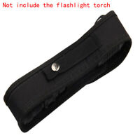 LED Flashlight Torch Lamp Nylon Pouch Holster Belt Carry Case Holder 18cm