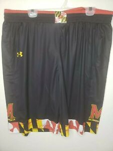 Large 2XL or 3XL - Under Armour UA Maryland Terrapins Basketball Shorts BLACK