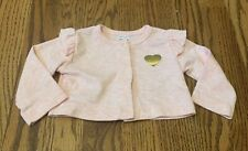 Carter's size 3 months pink cardigan, long sleeve, heart