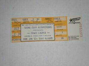 Cyndi Lauper Concrete Blonde Ticket Stub-1987-True Colors Tour-Dallas,Texas
