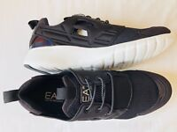 EMPORIO ARMANI EA7 Black Lace Up Trainers Sneakers Runners Size UK 9 BNIB