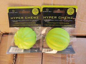 Hyper Chewz Dog Ball Toys, Floats, Resilient EVA Ball Foam LOT of 2