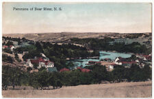 Panorama of Bear River Nova Scotia Antique Postcard