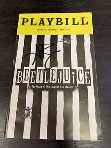 ALEX BRIGHTMAN Signed BEETLEJUICE May 2019 Broadway AUTOGRAPHED Playbill! BCEFA