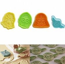 4pcs Character Star Wars Plunger Cutter Decor Fondant Cake Cookie Mold DIY Tool