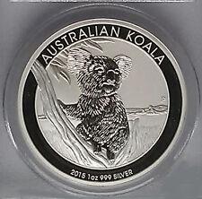 2015  AUSTRALIAN KOALA SILVER COIN, 1 Oz.999% Purity, Brilliant Uncirculated C#4