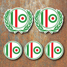 Scooter Mod Italia luminosa Laminado Adhesivo Set Vespa Retro italiano Calcomanía G