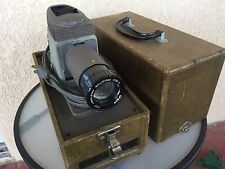 Vintage Working Argus 200 4 inch Projection Anastigmat W/Case Good Bulb