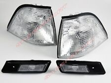 Pair Clear Corner Signal + Sidemarker Lights 95-96 BMW E36 Coupe /Convertible