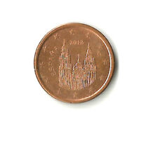 España 2012 1 centavos de euro moneda imagen de Santiago de Compostela; buena CIRCULADO