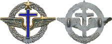 Aumonier Armée de l'Air, insigne béret, croix dorée bleue, Ballard 4158 (10103)