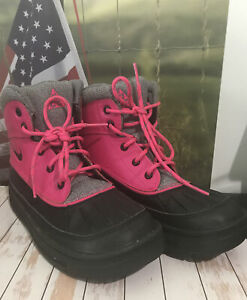 Shoes NIKE Youth ACG Snow Hiking Boots Rubber 105737243 Pink Black EX Size 2Y