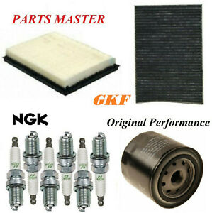 Tune Up Kit Air Cabin Oil Filters Spark Plug For DODGE CHARGER V6 3.5L 2008-2010