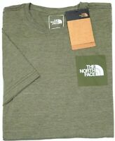 NEW $28 The North Face Short Sleeve Tee Shirt Mens Green Heather Slim Fit NWT