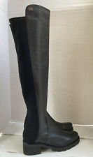 New Stuart Weitzman Black Alina Over The Knee Leather Boots 9M