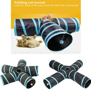 EPaw Collapsible Cat Tunnel 3/4/5 Interactive Indoor Cats Peek Hole Kitten Toys