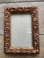 Heavy Dark Gold Colour Rococo Design Picture Frame Freestanding