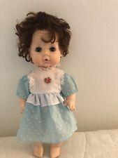 """Vintage EEGEE Baby Doll ~ Sleepy Eyes, Drinks, Wets, Blue Eyes, Girl 12"""" ~ Dress"""