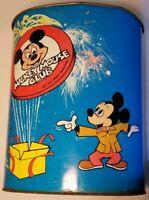 The New Mickey Mouse Club 1970s vtg metal Trashcan disneyana Walt Disney