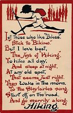 "POSTCARD  COMIC  Let those who like  ""  Bikes  ""  stick to biking....."