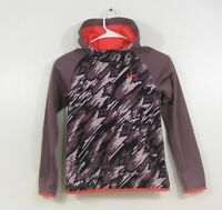 Girls Nike Dri Fit Purple and Orange Pullover Hoodie Size Small