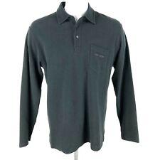 POLO SPORT Vintage Shirt Medium M Long Sleeve Black Polo Ralph Lauren Mens EUC