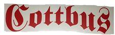 Aufkleber Autoaufkleber Cottbus für Heckscheibe, Heckklappe, Motorrad rot