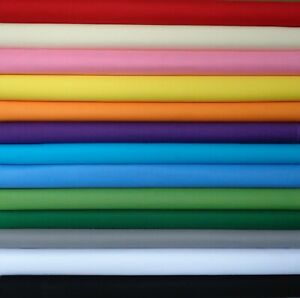 Makower  SPECTRUM Plain cotton fabric,FQs,1/2 Metre, Metres, Sewing,Craft,Quilts