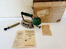 New listing Vtg 1935 Coleman Instant-Light Iron▪︎ Model 5946▪︎Original Box, Pump, Manual