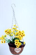 Beautiful hanging/flower Basket,Planter, Wicker Basket Willow Basket with chain